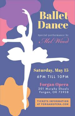 Violet and White Ballet Dance Flyer Dance Flyer