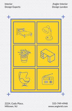 Yellow Modern Illustrated Interior Design Poster Interior Design