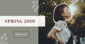 Grey and White Spring Collection Advertisement Ads Banner