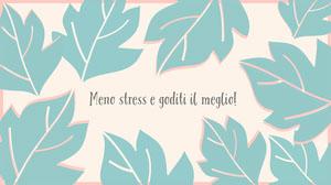 light pink and mint green leaves  desktop wallpapers  Sfondo desktop