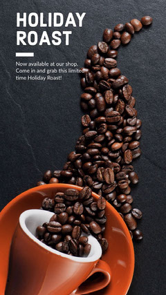 Black and Brown Toned Coffee Ad Instagram Story Holiday Sale
