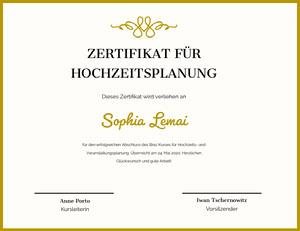 Sophia Lemai Zertifikat