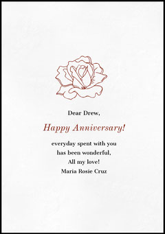Floral Happy Marriage Anniversary Card with Rose Flowers