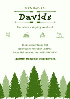 Green David Bachelor Party Invite  Party
