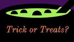 Green, Purple and Black, Halloween Party Gift Card Gift Card