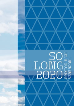 Blue and White Grid Pattern So Long 2020 Yearbook Cover A4 Education