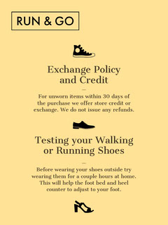 Yellow Clothing Store Refund Policy Flyer Shoes
