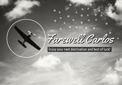 Grey, Monochrome, Light Toned, Old Fashioned, Farewell Card  Farewell