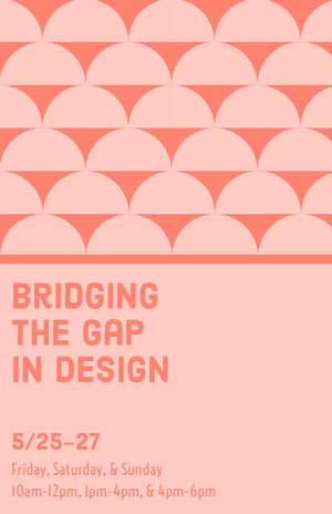 Bridging The Gap In Design Pink Flyers