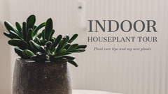 Indoor Houseplant Tour Youtube Thumbnail Music Tour