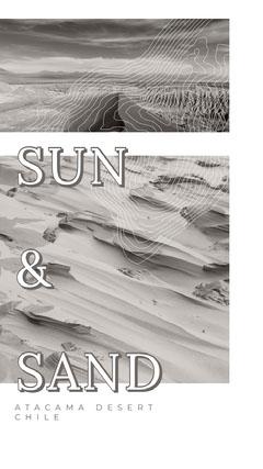 Black and White Sun And Sand Instagram Story Desert