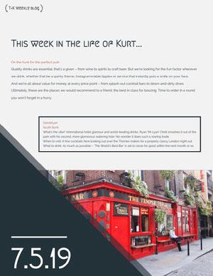 Travel Blog Newsletter Graphic Boletín