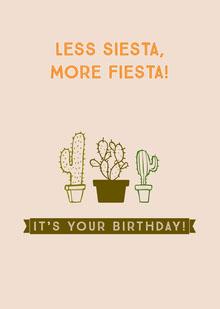 more fiesta! Birthday Card