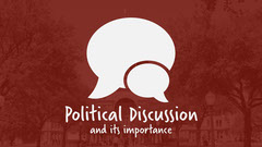 Red and white bubble Political Discussion Youtube thumbnail Political Flyer