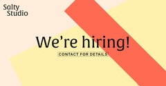 Yellow and Orange We Are Hiring Facebook Post Graphic Now Hiring Flyer