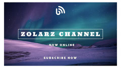 Violet Blue and White Zolarz Channel Banner Stream