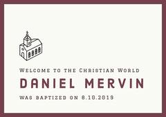 Daniel Mervin Baptism