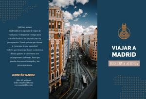 travel to Madrid travel brochures Folleto