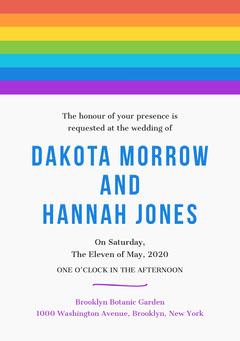 rainbow lgbt wedding invite Rainbow