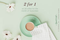 Green and White Gift Card Cafe