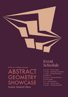 Abstract geometry Showcase<BR> Art Show
