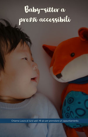 Baby-sitter a prezzi accessibili  Volantino aziendale