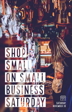 small business Saturday poster Black Friday