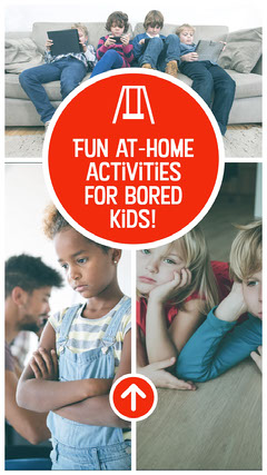 Red and White Photo Collage Home Children Activities Instagram Story Kids