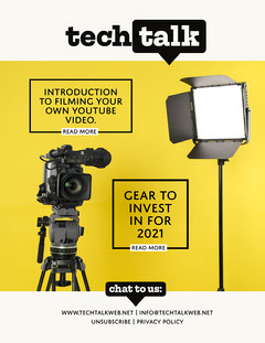 Yellow Black and White Technology Talk Newsletter Tech