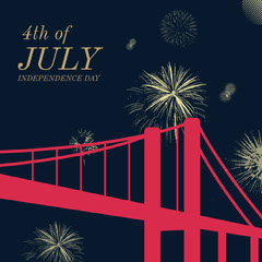 Black and Red Independence Day Instagram Graphic 4th of July