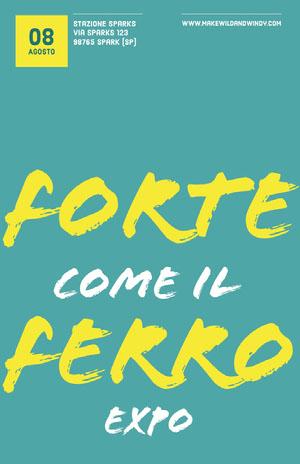 Forte Ferro Poster eventi