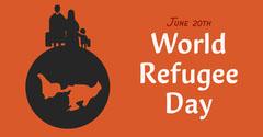 Orange Illustrated World Refugee Day Instagram Landscape Earth