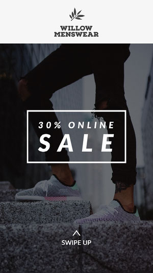 Menswear Sale Instagram Story Ad with Legs Images pour Instagram Shop