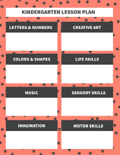 Red, Black and White Kindergarden Lesson Plan Preschool Flyer