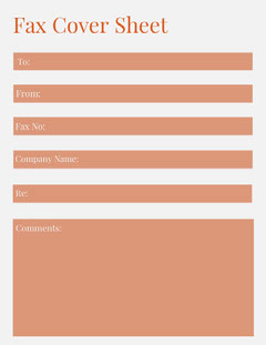 Orange Fax Cover Sheet  Orange