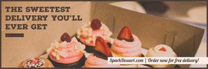 Dessert Delivery Service Horizontal Ad Banner Ads Banner