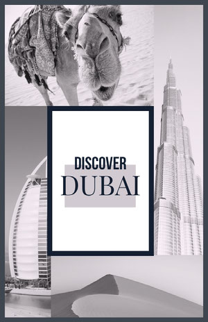 White and Grey Dubai Pinterest Scrapbook Maker