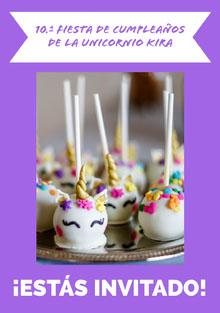 cake pop unicorn birthday cards  Tarjeta de cumpleaños