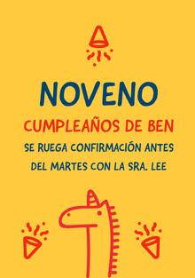 boy themed unicorn birthday cards  Tarjeta de cumpleaños