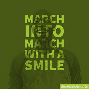 Green Toned March Catchphrase Instagram Post Dentist Poster