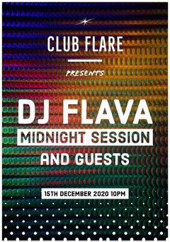 Colorful, Light, Flashy Club Party Poster DJ