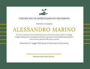 ALESSANDRO MARINO  Certificato