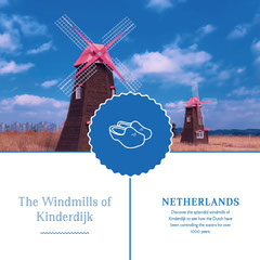 Blue and White Netherlands Travel Ad Instagram Post Travel Agency
