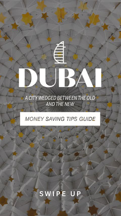 ig instagram story Dubai architecture temple money saving tips guide Story