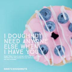Blue and Pink Valentine Pun Bakery Ad Instagram Post Bogo