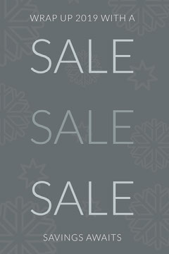 year end sale Pinterest ad  Holiday Sale