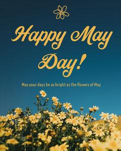 May Day Instagram Portrait Flowers