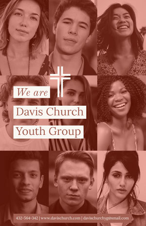 Davis Church <BR> Youth Group Church Flyer