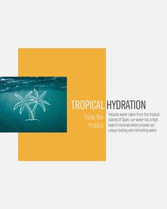 Tropical Hydration Instagram Portrait Water