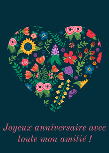 Happy Birthday Card Carte d'anniversaire